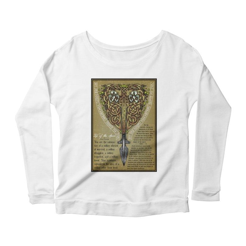 Tip of the Spear (Ancestors) Women's Scoop Neck Longsleeve T-Shirt by Celtic Hammer Club