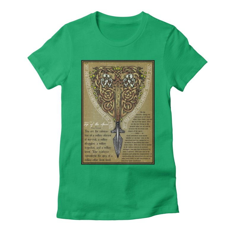 Tip of the Spear (Ancestors) Women's Fitted T-Shirt by Celtic Hammer Club