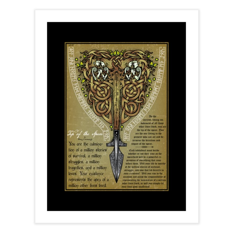Tip of the Spear (Ancestors) Home Fine Art Print by Celtic Hammer Club