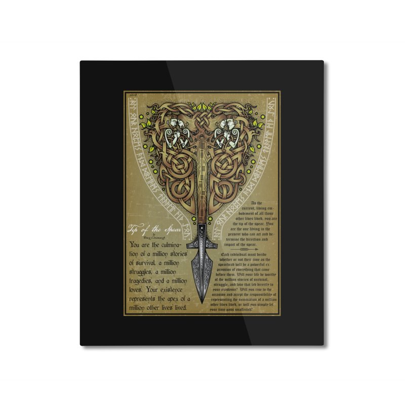 Tip of the Spear (Ancestors) Home Mounted Aluminum Print by Celtic Hammer Club