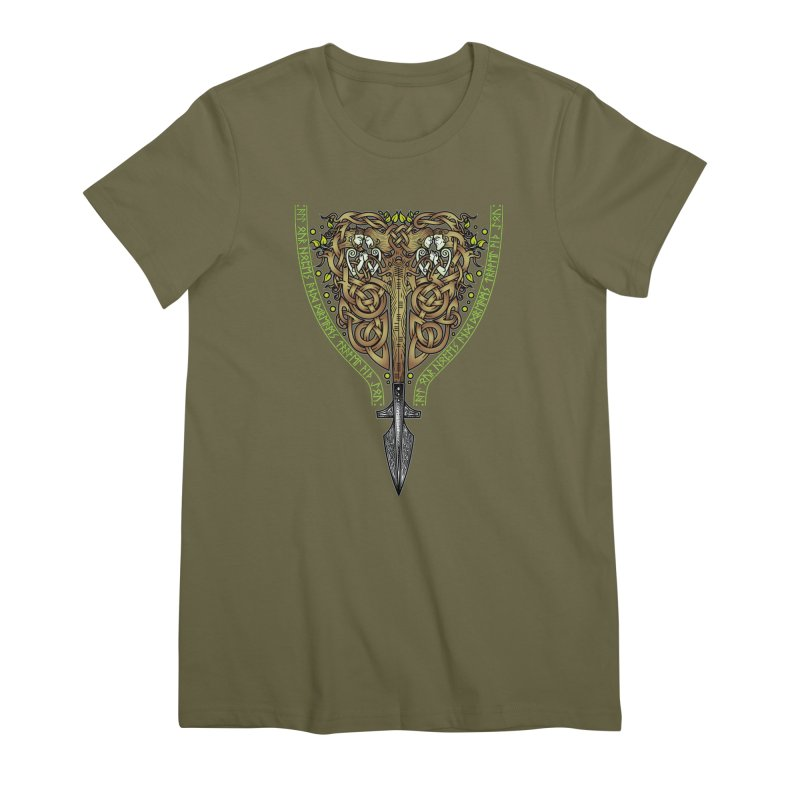 Tip of the Spear (Ancestors) Women's Premium T-Shirt by Celtic Hammer Club