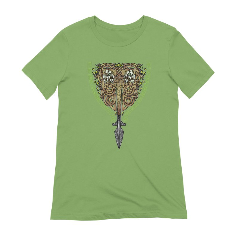 Tip of the Spear (Ancestors) Women's Extra Soft T-Shirt by Celtic Hammer Club