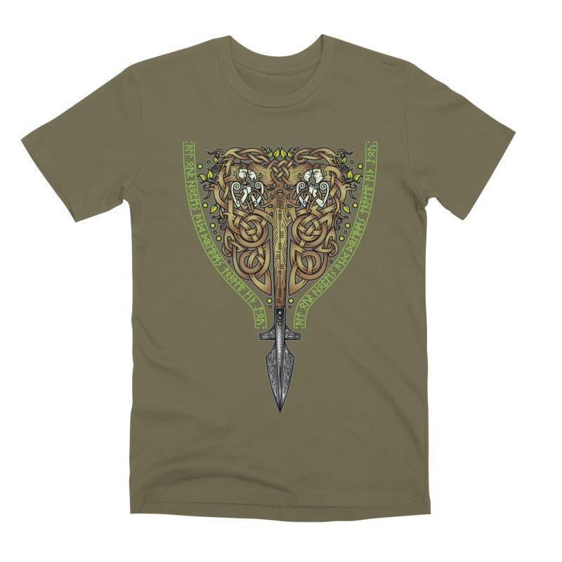 Tip of the Spear (Ancestors) Men's Premium T-Shirt by Celtic Hammer Club