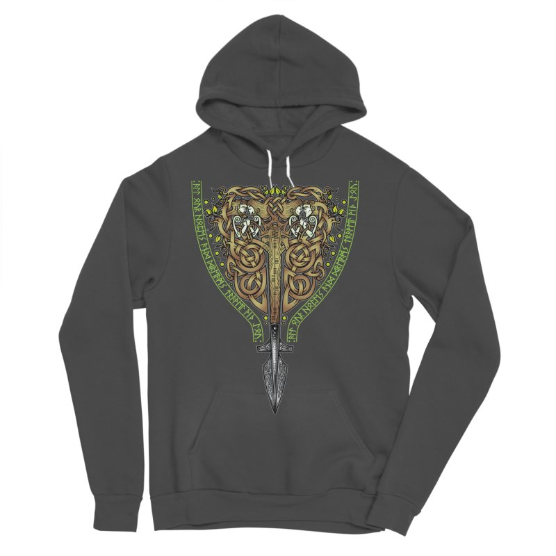 Tip of the Spear (Ancestors) Men's Sponge Fleece Pullover Hoody by Celtic Hammer Club
