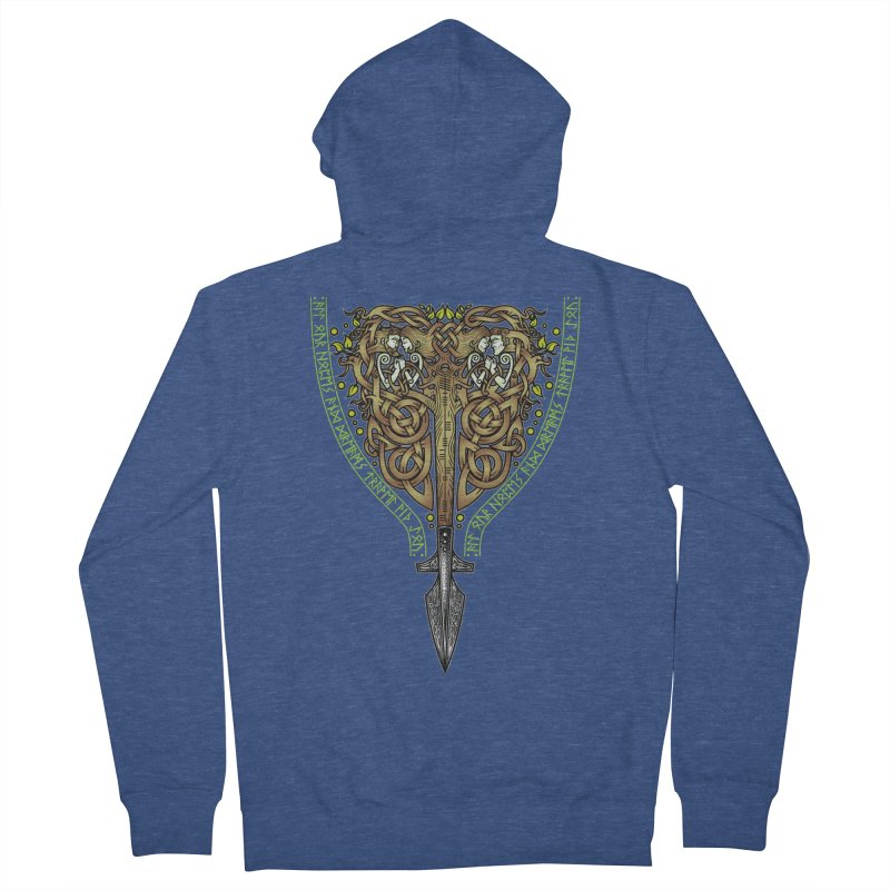 Tip of the Spear (Ancestors) Women's French Terry Zip-Up Hoody by Celtic Hammer Club