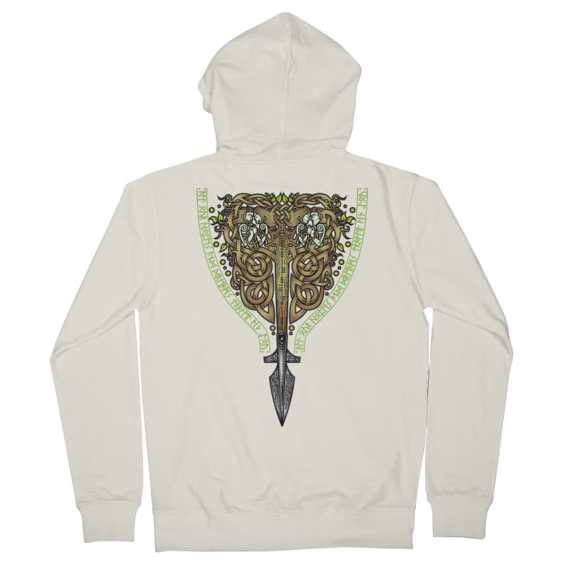 Tip of the Spear (Ancestors) Men's French Terry Zip-Up Hoody by Celtic Hammer Club