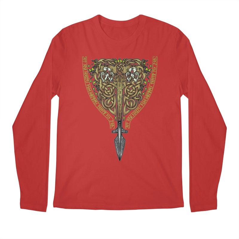 Tip of the Spear (Ancestors) Men's Regular Longsleeve T-Shirt by Celtic Hammer Club