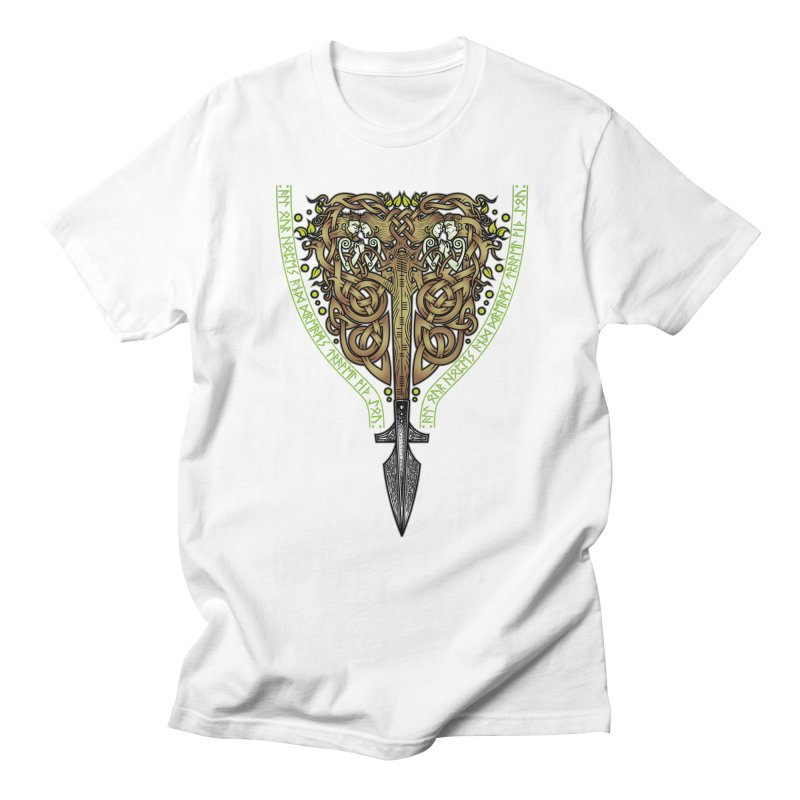 Tip of the Spear (Ancestors) Men's T-Shirt by Celtic Hammer Club