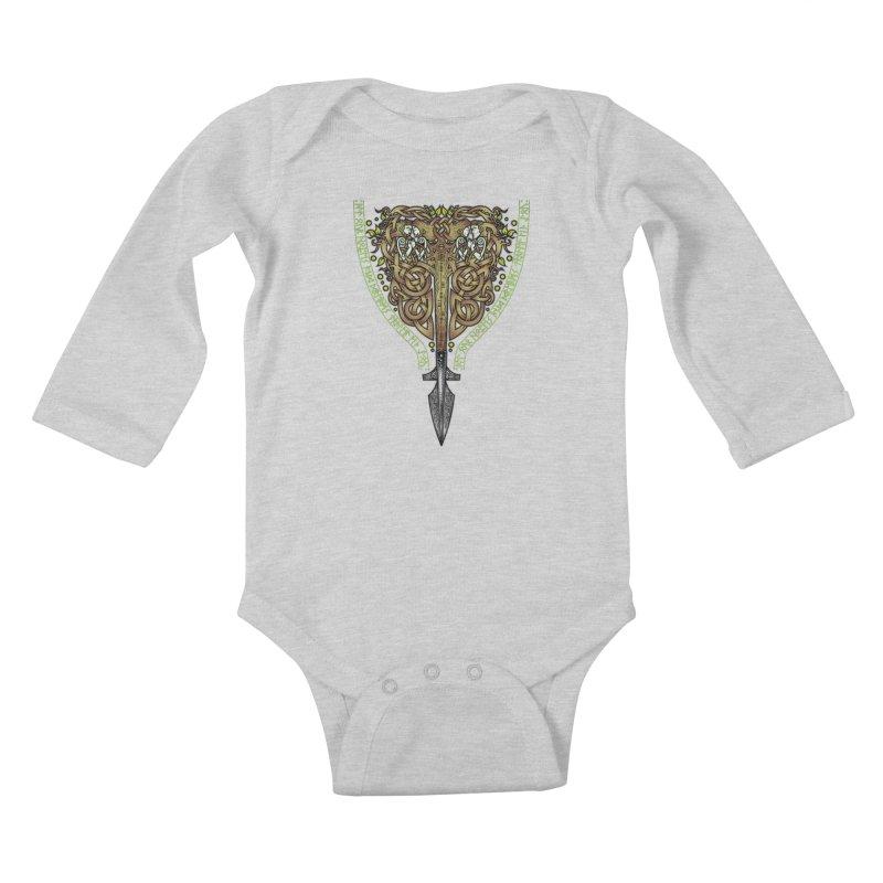 Tip of the Spear (Ancestors) Kids Baby Longsleeve Bodysuit by Celtic Hammer Club