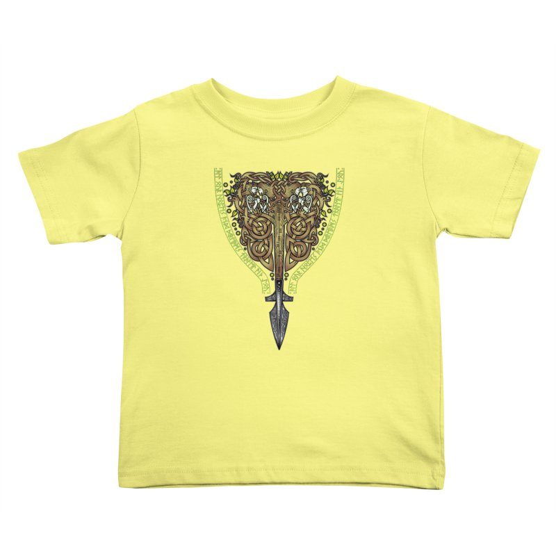 Tip of the Spear (Ancestors) Kids Toddler T-Shirt by Celtic Hammer Club