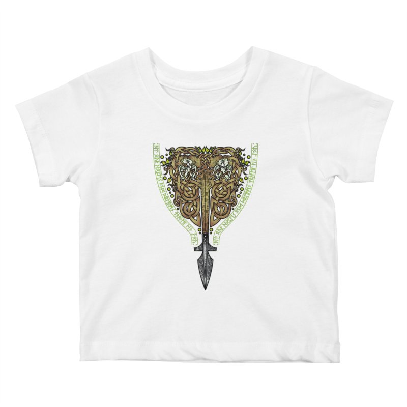Tip of the Spear (Ancestors) Kids Baby T-Shirt by Celtic Hammer Club