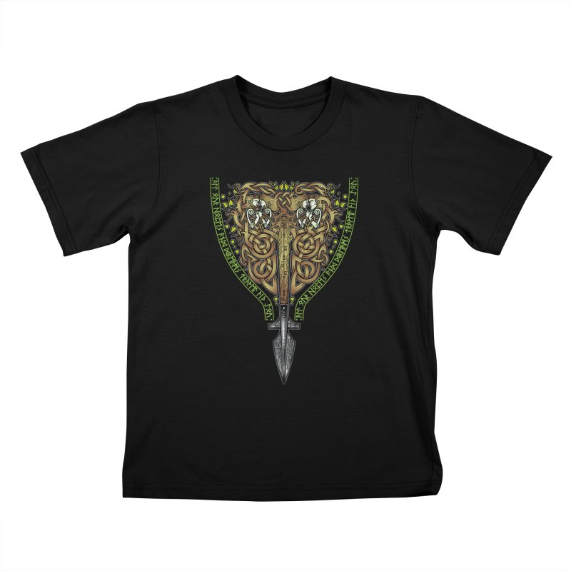 Tip of the Spear (Ancestors) Kids T-Shirt by Celtic Hammer Club