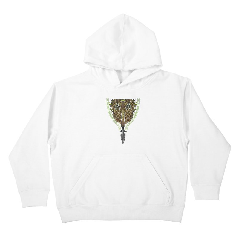 Tip of the Spear (Ancestors) Kids Pullover Hoody by Celtic Hammer Club
