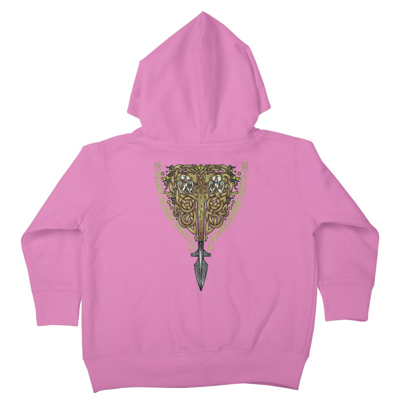 Tip of the Spear (Ancestors) Kids Toddler Zip-Up Hoody by Celtic Hammer Club