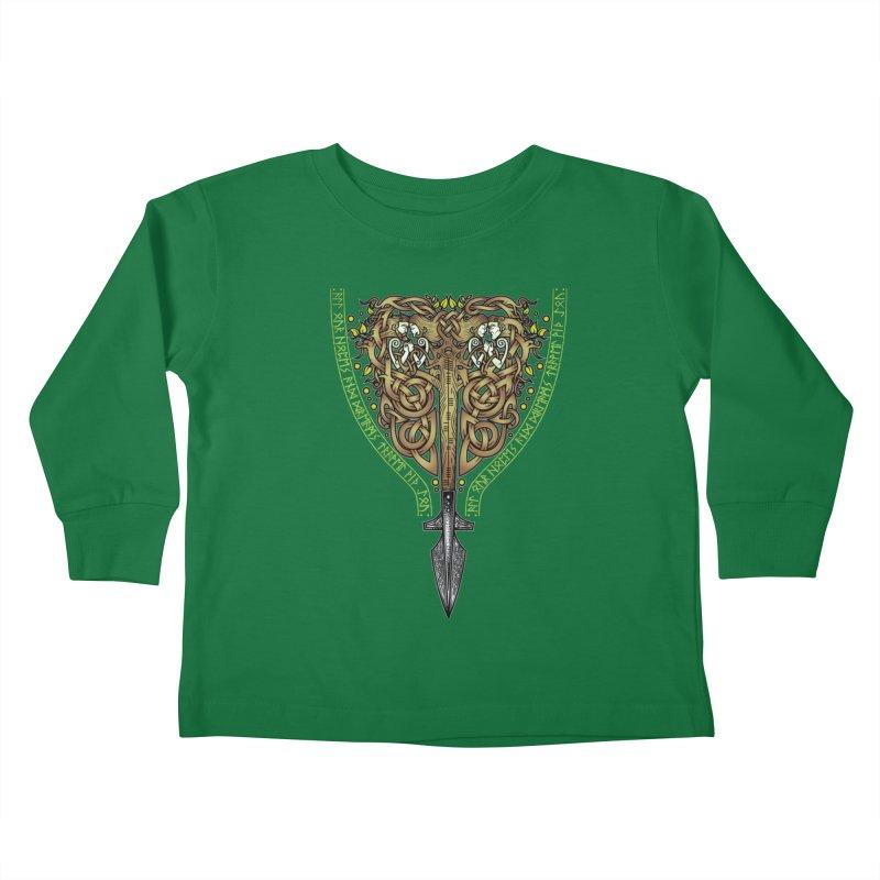 Tip of the Spear (Ancestors) Kids Toddler Longsleeve T-Shirt by Celtic Hammer Club