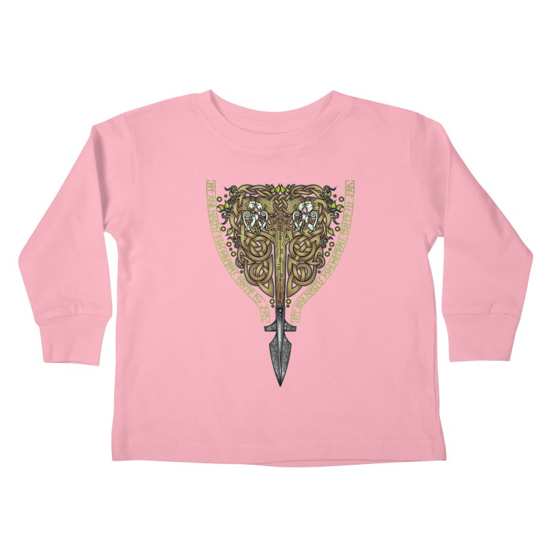 Tip of the Spear (Ancestors) Kids Toddler Longsleeve T-Shirt by Celtic Hammer Club