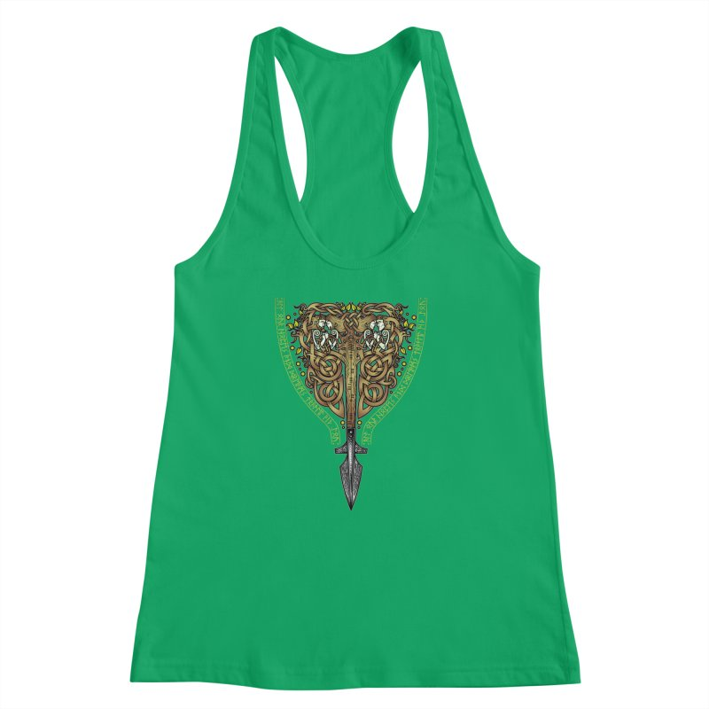 Tip of the Spear (Ancestors) Women's Racerback Tank by Celtic Hammer Club