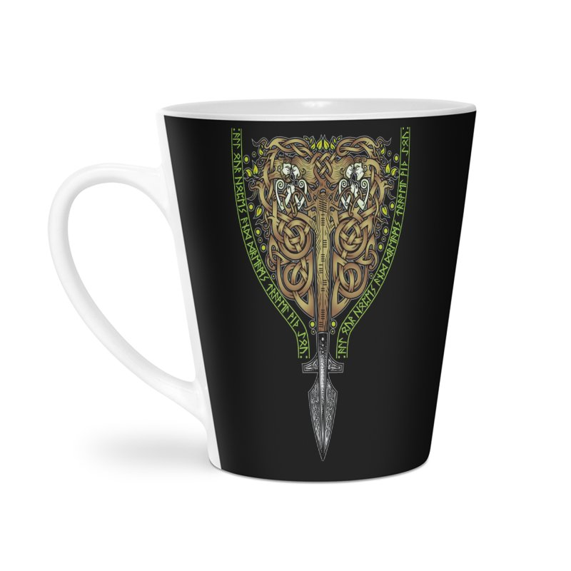 Tip of the Spear (Ancestors) Accessories Latte Mug by Celtic Hammer Club