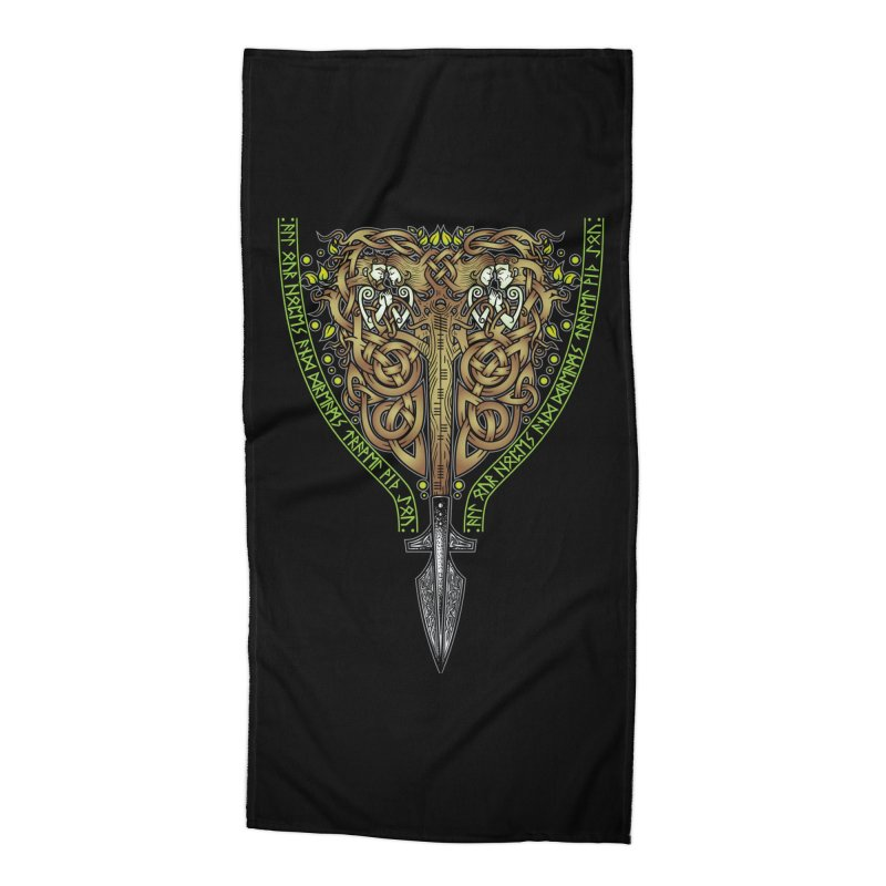 Tip of the Spear (Ancestors) Accessories Beach Towel by Celtic Hammer Club