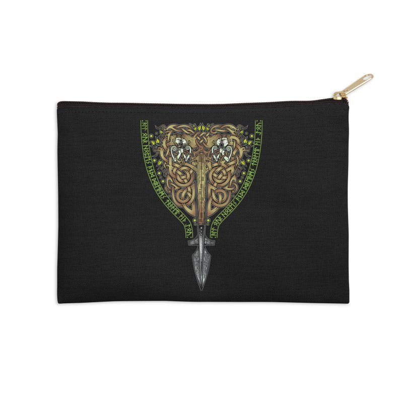 Tip of the Spear (Ancestors) Accessories Zip Pouch by Celtic Hammer Club