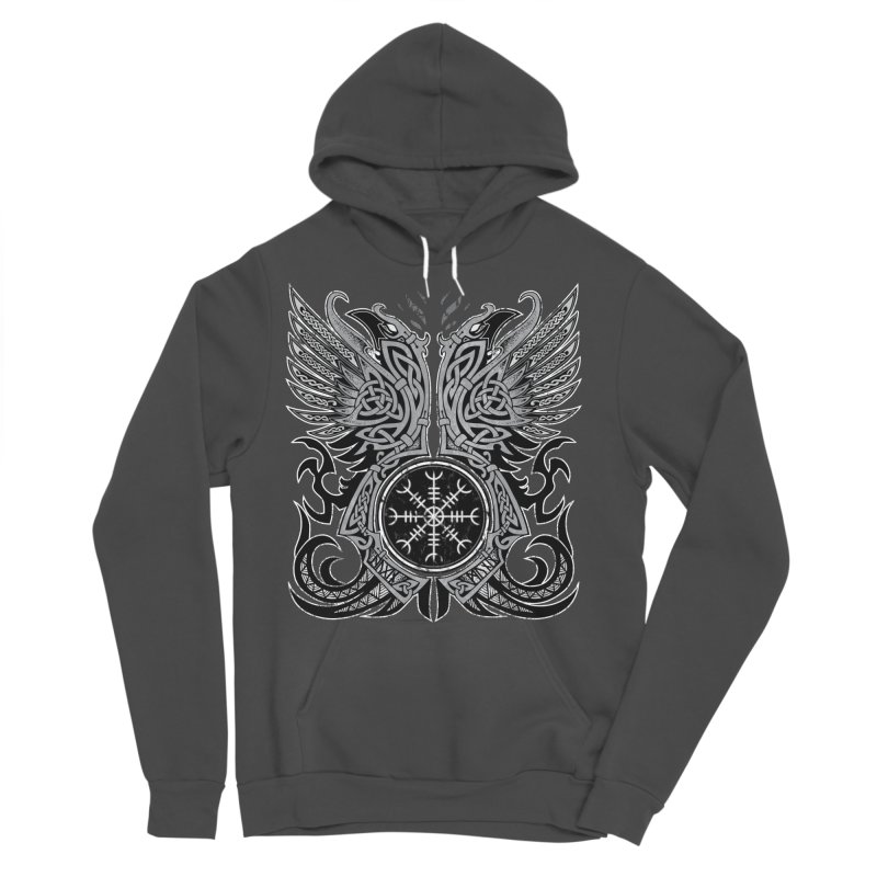 Huginn & Muninn, Odin's Ravens Men's Pullover Hoody by Celtic Hammer Club