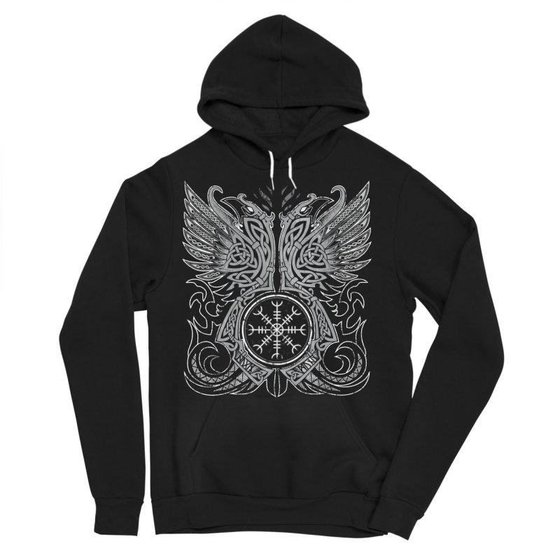 Huginn & Muninn, Odin's Ravens Men's Pullover Hoody by Celtic Hammer Club