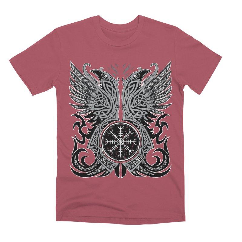 Huginn & Muninn, Odin's Ravens Men's Premium T-Shirt by Celtic Hammer Club
