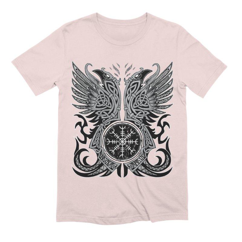 Huginn & Muninn, Odin's Ravens Men's Extra Soft T-Shirt by Celtic Hammer Club