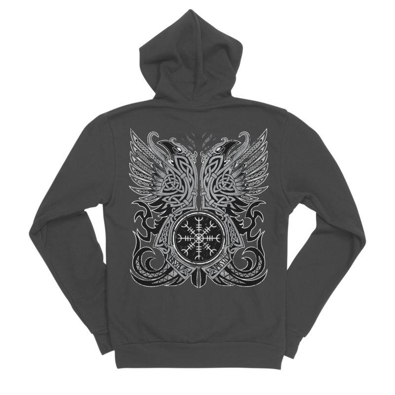 Huginn & Muninn, Odin's Ravens Women's Sponge Fleece Zip-Up Hoody by Celtic Hammer Club