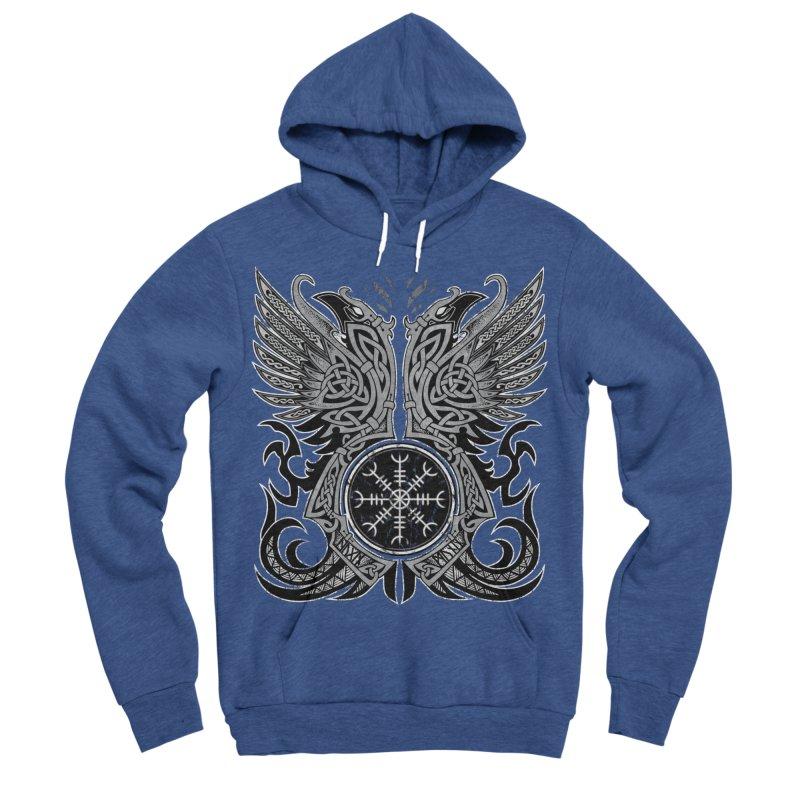 Huginn & Muninn, Odin's Ravens Men's Sponge Fleece Pullover Hoody by Celtic Hammer Club