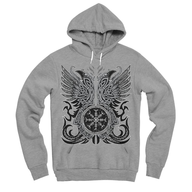 Huginn & Muninn, Odin's Ravens Men's Sponge Fleece Pullover Hoody by Celtic Hammer Club