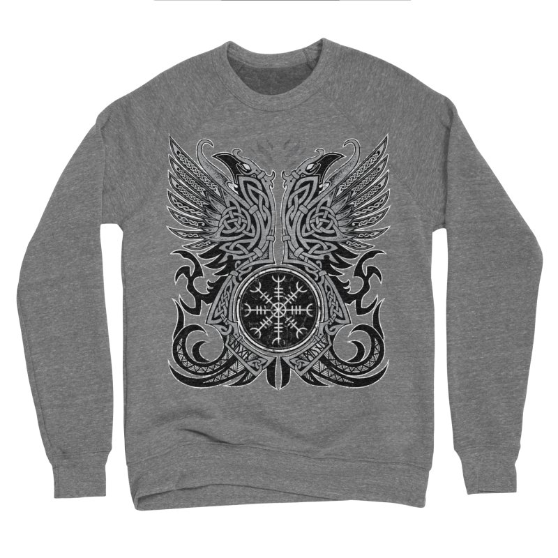 Huginn & Muninn, Odin's Ravens Men's Sponge Fleece Sweatshirt by Celtic Hammer Club