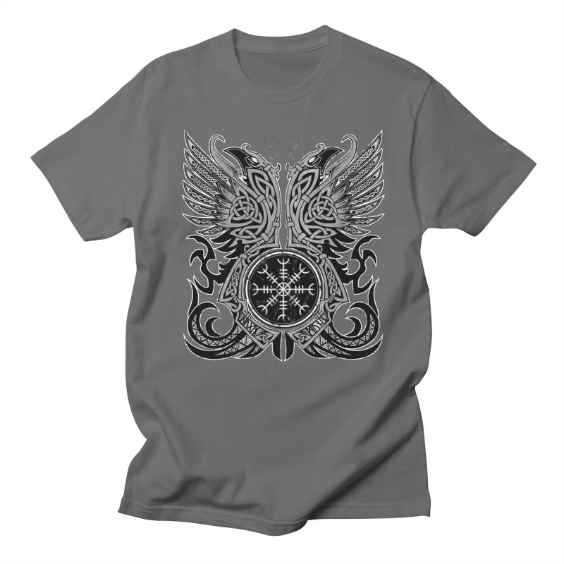 Huginn & Muninn, Odin's Ravens Men's T-Shirt by Celtic Hammer Club