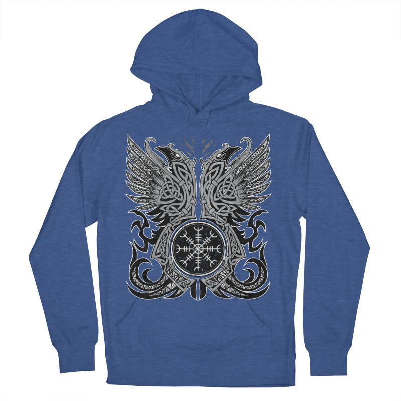 Huginn & Muninn, Odin's Ravens Women's French Terry Pullover Hoody by Celtic Hammer Club