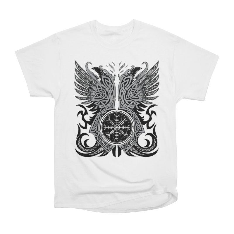Huginn & Muninn, Odin's Ravens Men's Heavyweight T-Shirt by Celtic Hammer Club