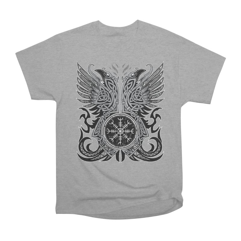 Huginn & Muninn, Odin's Ravens Women's Heavyweight Unisex T-Shirt by Celtic Hammer Club