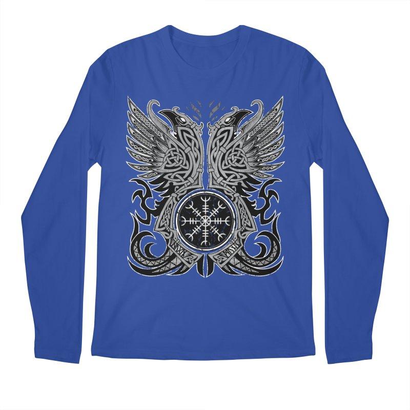 Huginn & Muninn, Odin's Ravens Men's Regular Longsleeve T-Shirt by Celtic Hammer Club
