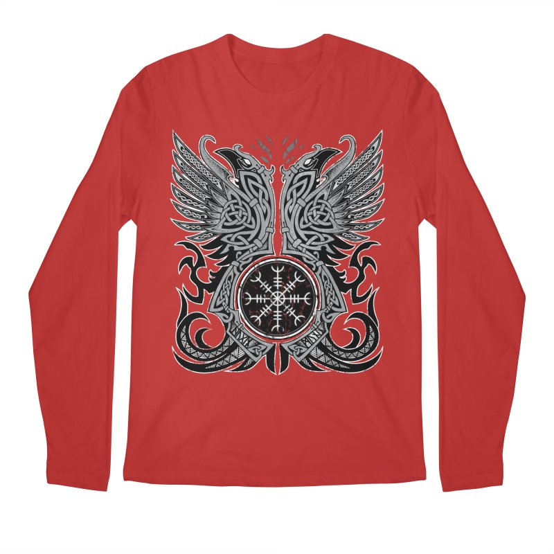 Huginn & Muninn, Odin's Ravens Men's Regular Longsleeve T-Shirt by Celtic Hammer Club