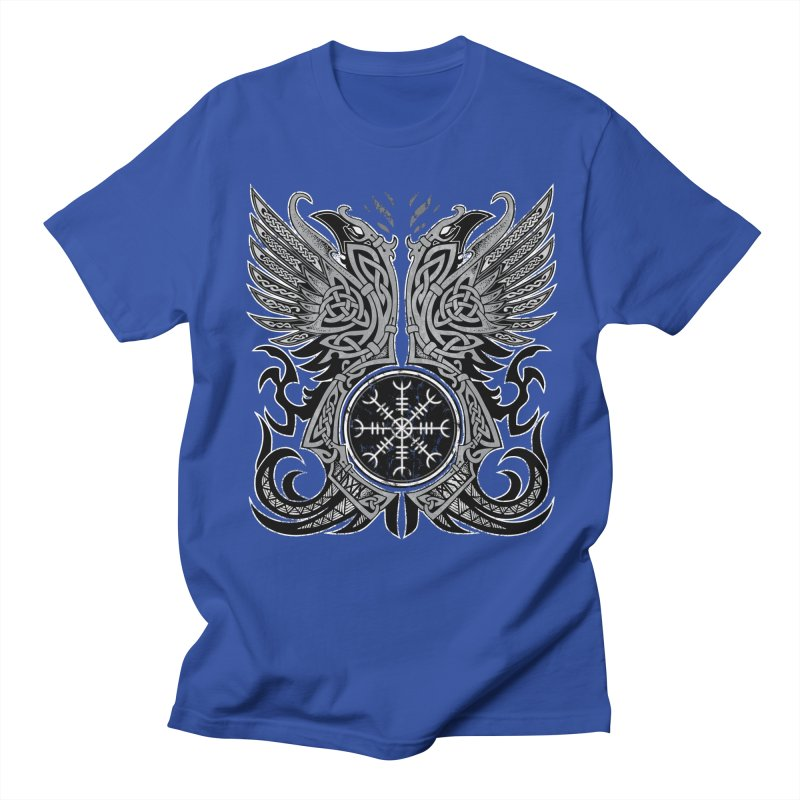Huginn & Muninn, Odin's Ravens Men's Regular T-Shirt by Celtic Hammer Club