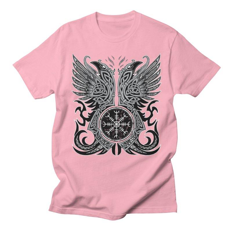 Huginn & Muninn, Odin's Ravens Men's Regular T-Shirt by Celtic Hammer Club