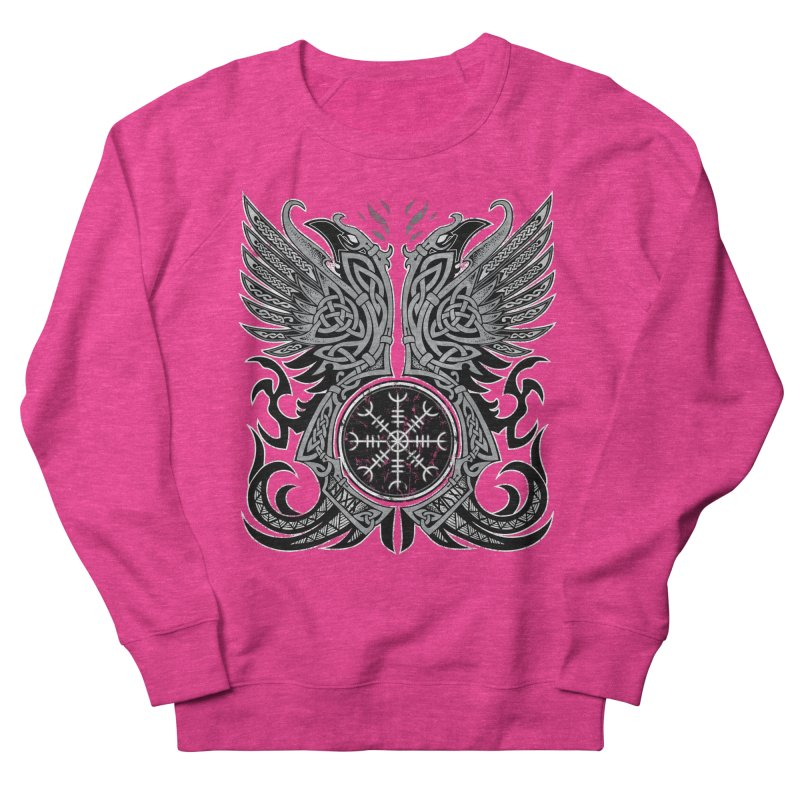 Huginn & Muninn, Odin's Ravens Women's French Terry Sweatshirt by Celtic Hammer Club