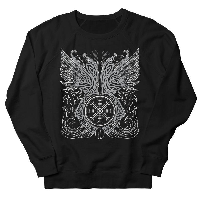 Huginn & Muninn, Odin's Ravens Women's French Terry Sweatshirt by Celtic Hammer Club