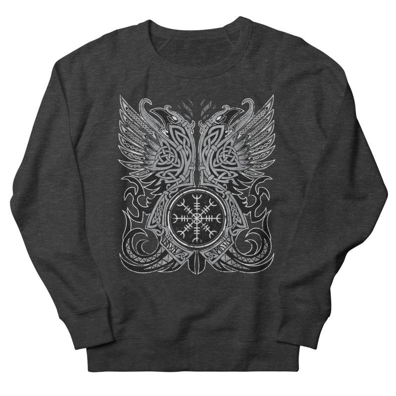 Huginn & Muninn, Odin's Ravens Men's French Terry Sweatshirt by Celtic Hammer Club
