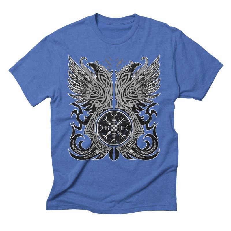 Huginn & Muninn, Odin's Ravens Men's Triblend T-Shirt by Celtic Hammer Club