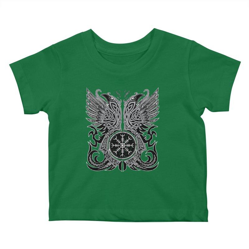Huginn & Muninn, Odin's Ravens Kids Baby T-Shirt by Celtic Hammer Club