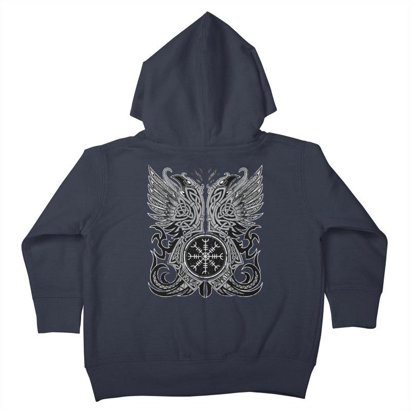 Huginn & Muninn, Odin's Ravens Kids Toddler Zip-Up Hoody by Celtic Hammer Club