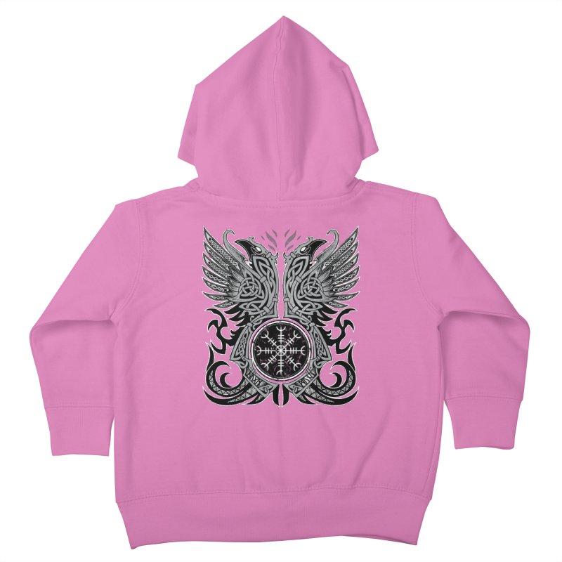 Huginn & Muninn, Odin's Ravens Kids Toddler Zip-Up Hoody by Celtic Hammer Club