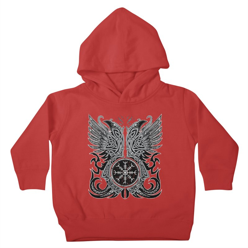 Huginn & Muninn, Odin's Ravens Kids Toddler Pullover Hoody by Celtic Hammer Club