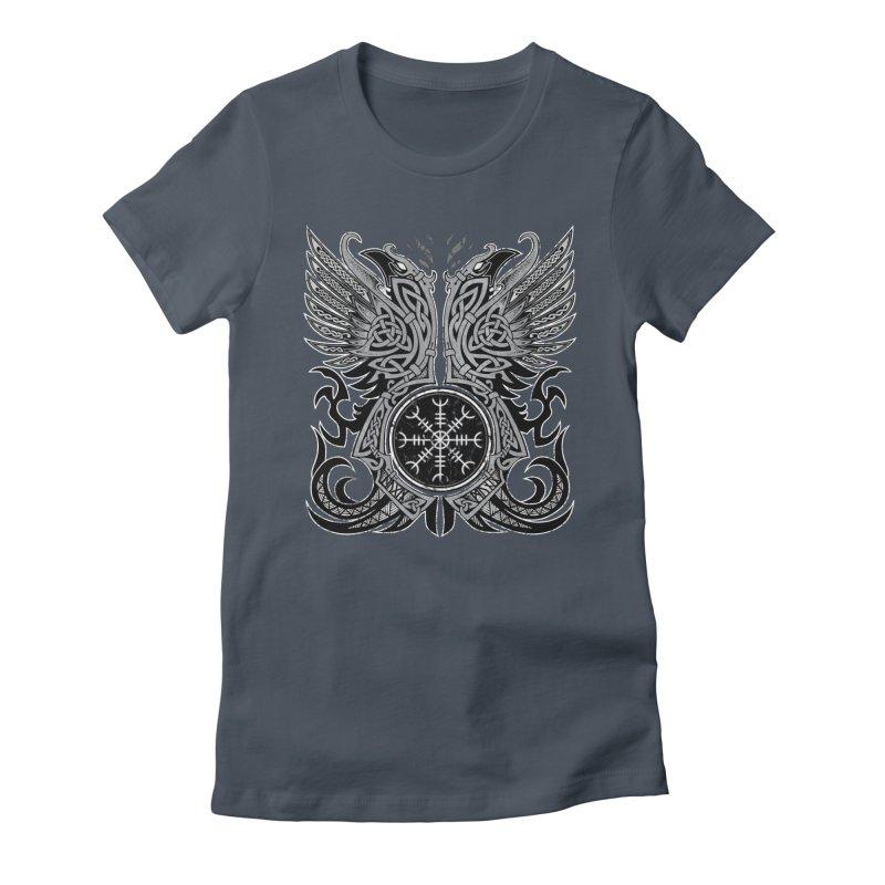 Huginn & Muninn, Odin's Ravens Women's T-Shirt by Celtic Hammer Club