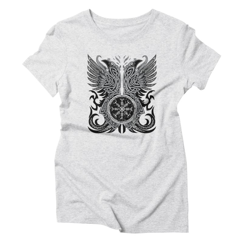 Huginn & Muninn, Odin's Ravens Women's Triblend T-Shirt by Celtic Hammer Club